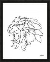 lion2 01 Picture Frame print