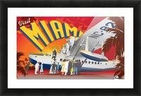 Vectree Vintage Miami Florida travel poster Picture Frame print