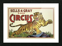 Sells and Grey 3 Ring Circus Picture Frame print