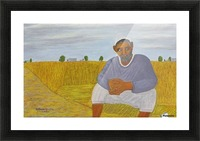 The wheat farmer Picture Frame print