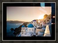 Coastal Oia Picture Frame print