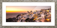 Oia Sunset Picture Frame print