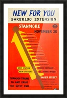 Poster Promoting the Bakerloo Line Extension to Stanmore, 1939 Picture Frame print