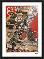 International women's day, March 8 Soviet propaganda poster Picture Frame print