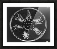 Please applaud with hands only Picture Frame print