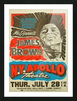 James Brown Picture Frame print