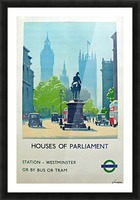 London Underground Houses of Parliament Picture Frame print