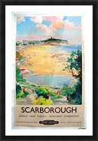 Original Railway Poster Scarborough Picture Frame print