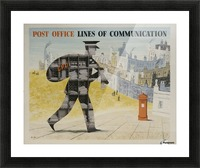 Post Office Lines of Communication Picture Frame print