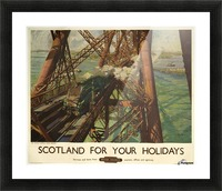 Scotland for your holidays Picture Frame print