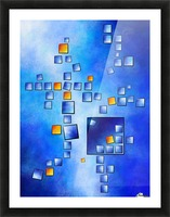 Cublerossia V1 - falling cubes Picture Frame print