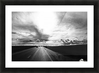 Open Road Picture Frame print