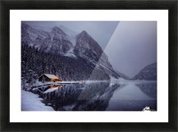 Winter Lake Louise  Picture Frame print