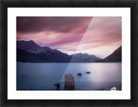 Spray Lake Sunset Picture Frame print