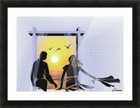 The Couple Picture Frame print
