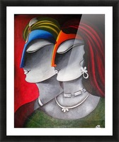 Divine Love Krishna and Radha Picture Frame print