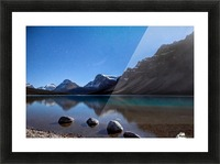 Bow lake under moonlight  Picture Frame print