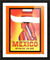 Mexico Travel Print 1968 Picture Frame print