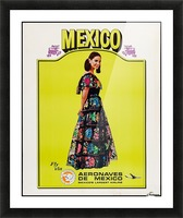 Aeronaves de Mexico Poster Picture Frame print