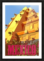 Mexico City vintage travel poster Picture Frame print