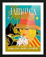 Vintage Jamaica Delta Airlines Poster Picture Frame print