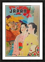 Japan Autumn in Nikko travel poster Picture Frame print