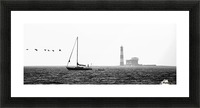 Passing by the Lighthouse Picture Frame print