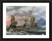 Walvisvangst Picture Frame print