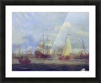 Peter the Great inspecting ship at Amsterdam Picture Frame print