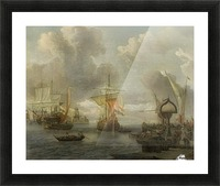 View of a Harbour on the Zuiderzee Picture Frame print