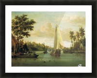 View of Maarsen on the Vecht Picture Frame print
