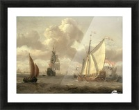 Ship on the River IJ in Amsterdam, around 1661 Picture Frame print