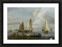 Dutch Shipping in an Estuary Picture Frame print