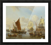 Shipping off Amsterdam Picture Frame print