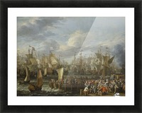Departure of William III from Hellevoetsluis, 19 October 1688 Picture Frame print