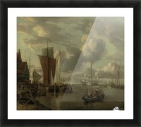 Quayside with extensive shipping Picture Frame print