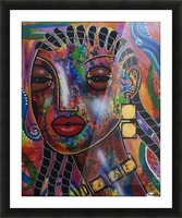 Girl with Braids Picture Frame print