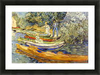 The Riverbank, La Grenouillere by Van Gogh Picture Frame print