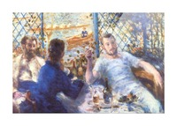 The Rowers Lunch by Renoir Picture Frame print