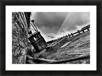 Angled wreck Picture Frame print