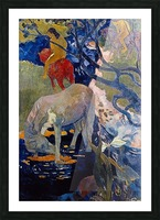 The White Horse by Gauguin Picture Frame print