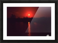 Sunset filter Picture Frame print