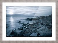 Moody Blue Presqu'ile Picture Frame print
