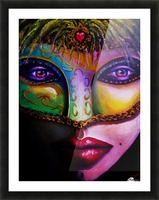 beneath the mask Picture Frame print