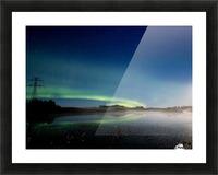 Moonlit Aurora Picture Frame print
