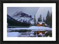 Emerald Lake Lodge Picture Frame print
