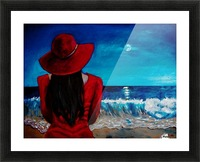 Lady In Red Picture Frame print