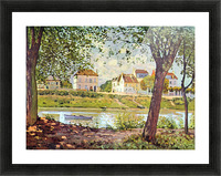 Village on the banks of the Seine by Sisley Picture Frame print