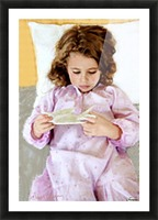 girl and bird by J Gregory  Picture Frame print