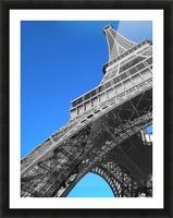silver Eiffel tower Paris Picture Frame print